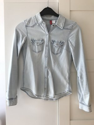 Jeansbluse in Gr. 34