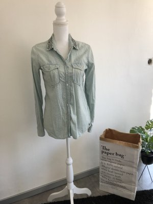 Hilfiger Denim Jeans blouse azuur-zilver