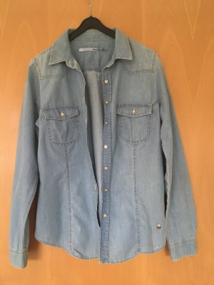 Jeansbluse / Jeanshemd in hellem blau