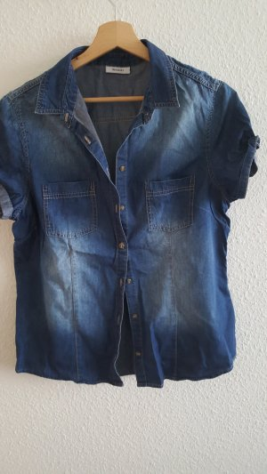 Jeans blouse donkerblauw