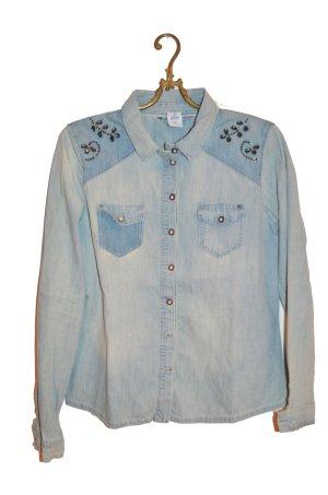 Jeans blouse veelkleurig Katoen