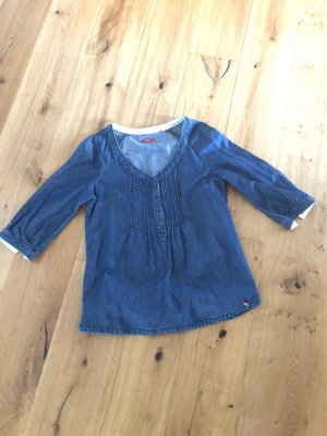 edc Jeans blouse staalblauw