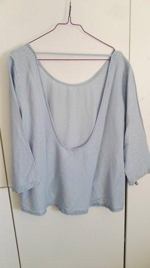 Jeansbluse mit großen Rückenausschnitt XL