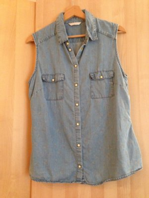 Jeansbluse mit Muster von Promod