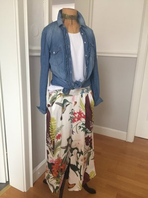H&M Jeans blouse staalblauw