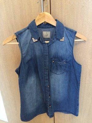 Jeansbluse ohne Ärmel Lefties Zara