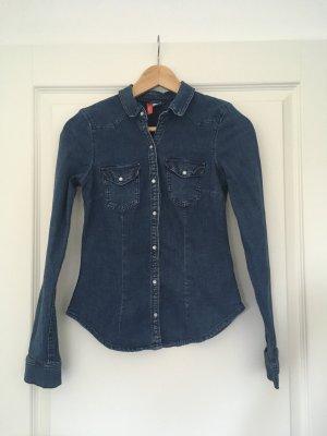 Jeansbluse von H&M blau
