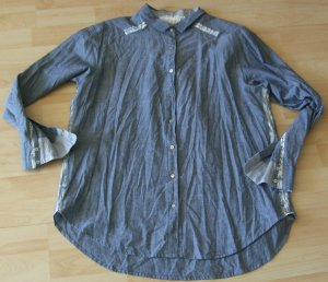 Nile Jeans blouse blauw Katoen