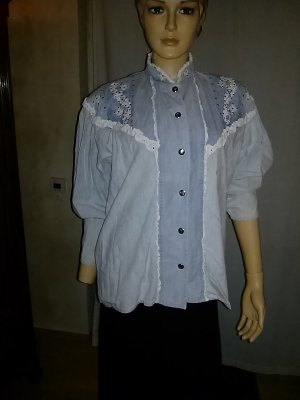 Jeans blouse azuur Katoen