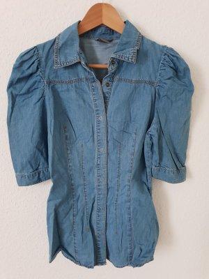 Vero Moda Blouse en jean bleu