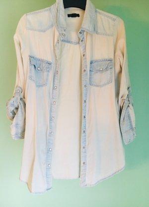 Amisu Jeans blouse veelkleurig