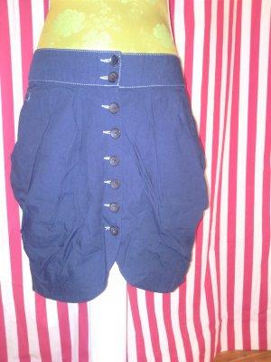 Jeansfarbener Rock mit Falten Great Skirt