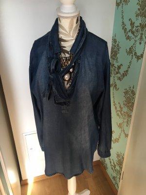 Jeans blouse azuur-korenblauw