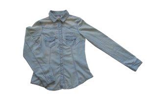 Clockhouse Chemise en jean bleu azur coton