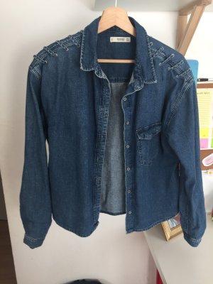 Mango Denim Shirt blue