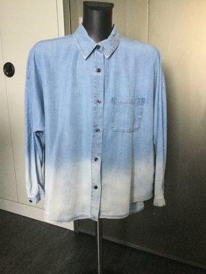 Mango Jeans Camisa vaquera azul celeste-azul aciano