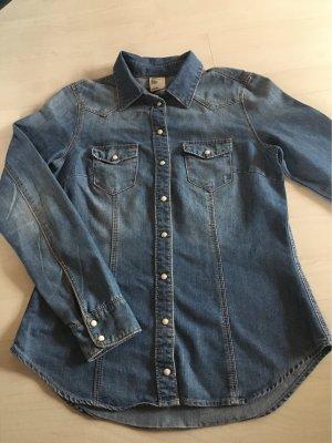 H&M Camisa vaquera azul-azul celeste