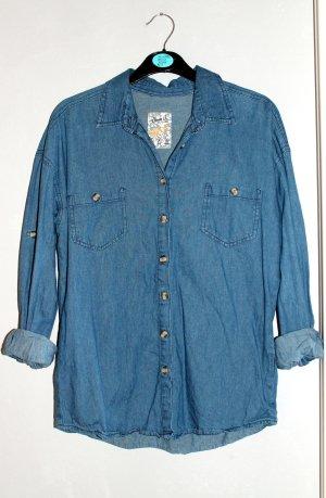 Primark Camicia denim blu acciaio
