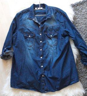 John Baner Chemise en jean bleu