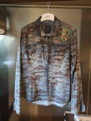 key largo girls Denim Shirt grey-azure cotton