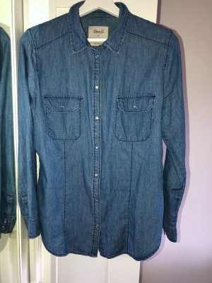Primark Denim Shirt dark blue