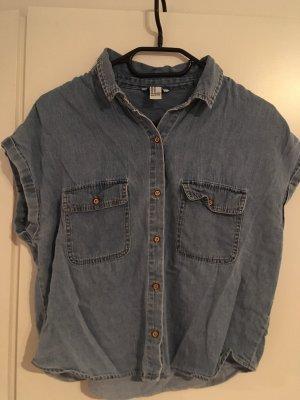 Forever 21 Denim Shirt blue