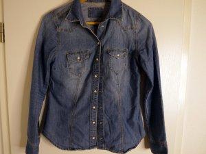 H&M Denim Blouse steel blue