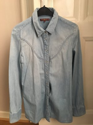 7 For All Mankind Chemise en jean bleu azur