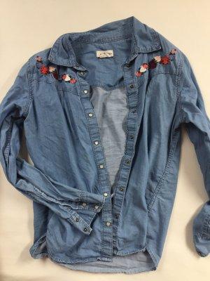 H&M Spijkershirt donkerrood-blauw