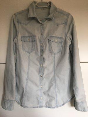 H&M Jeans blouse lichtblauw