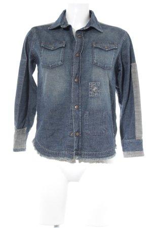 Chemise en jean bleu style décontracté