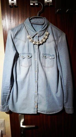 jeanshemd blau von zara