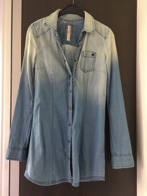 Tom Tailor Denim Chemise en jean bleu azur-bleu clair