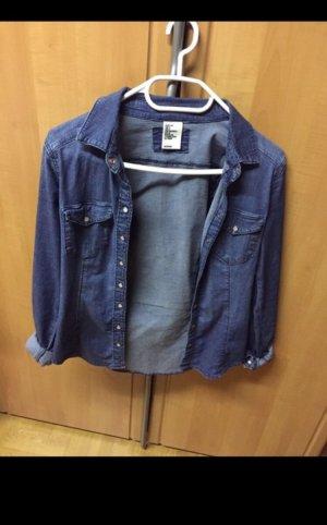 H&M Camisa vaquera azul oscuro