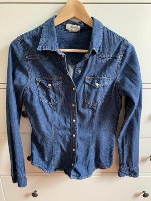 Denim Co. Chemise en jean bleu