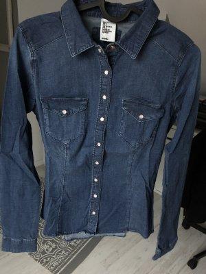 H&M Camicia denim blu-blu scuro
