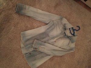 Mango Blouse en jean bleu pâle