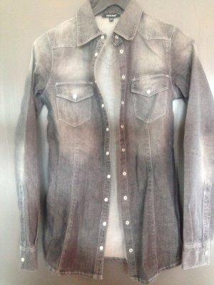 Denny Rose Blouse en jean gris-gris clair