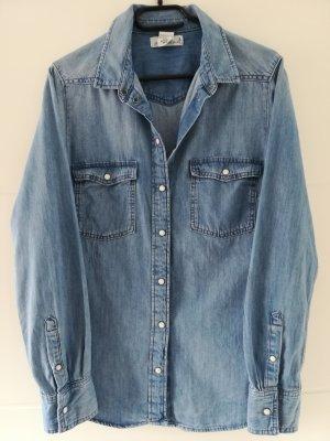 H&M L.O.G.G. Jeans blouse azuur