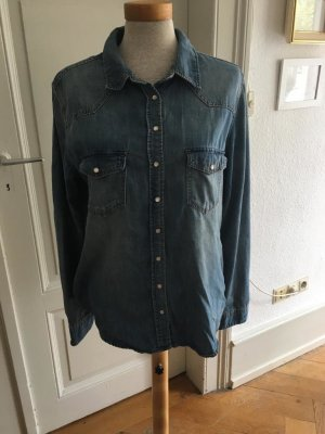 Hennes Collection by H&M Denim Blouse blue