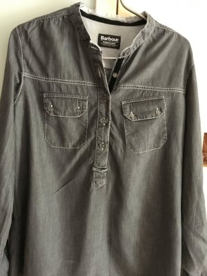 Jeanshemd grau/schwarz