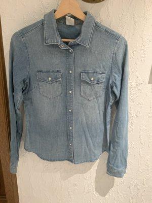 H&M Camisa vaquera azul acero