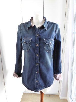 Tommy Hilfiger Denim Denim Blouse dark blue cotton