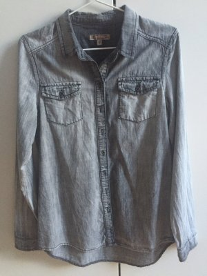 Jeanshemd in verwaschenen mom Anthrazit!