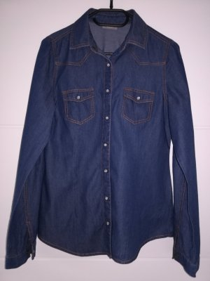 C&A Denim Shirt dark blue cotton