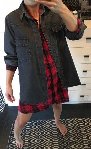 Jeanshemd jeansjacke asos grau schwarz 36 zara oversized boyfriend blogger