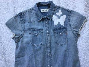 Replay Camisa vaquera azul claro