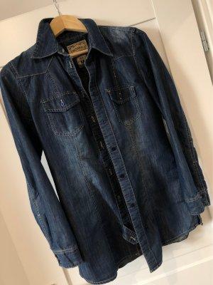 Fresh made Denim Shirt dark blue