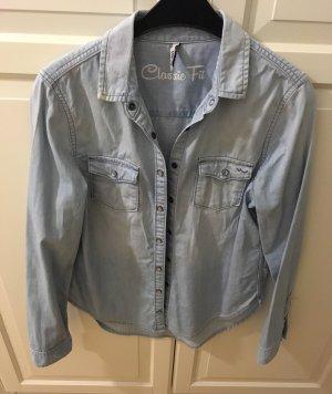 LTB Chemise en jean bleu azur coton