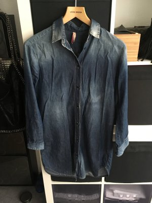 Jeanshemd mit Reißverschluss am Rücken Gr. SX/S